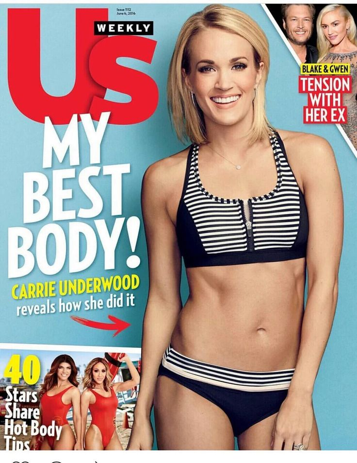 Carrie Underwood wearing Calia by Carrie bathing suit on the cover of US Weekly