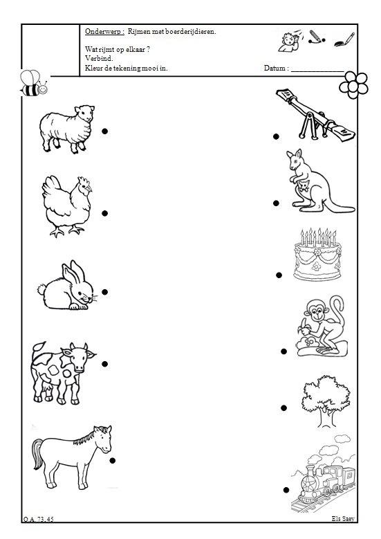 * Rijmen dieren: Wat rijmt op elkaar ?