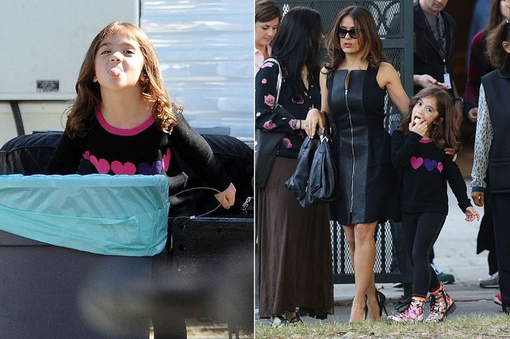 Esos modos, Valentina. La hija de Salma Hayek y el heredero del lujo François-Henri Pinault, Valentina, muestra su hartazgo de los paparazzi. Un día más, la niña acompañó a su madre al set de rodaje.