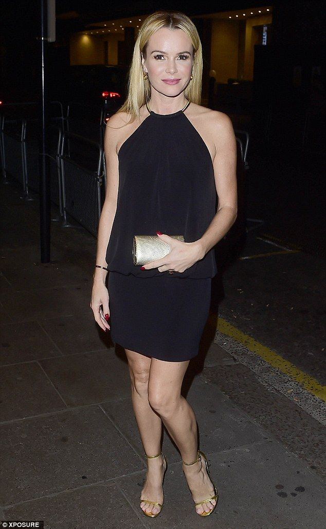 Blonde beauty:Also at the party was Britain's Got Talent judge Amanda Holden, who display...