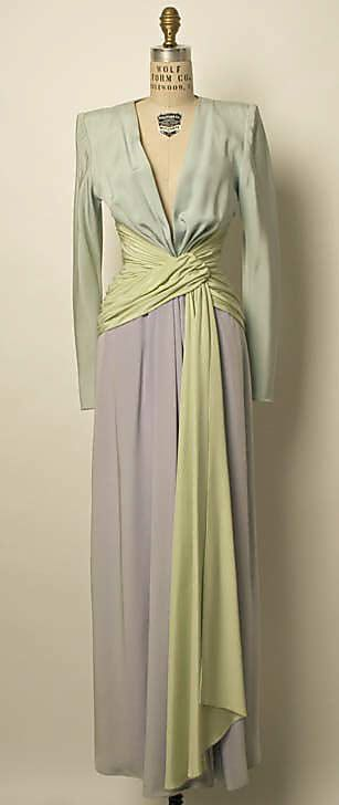 Dress, Evening - Yves St. Laurent c, 1955