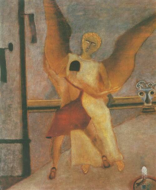 Jan Spychalski, Walka Jakuba z aniołem, 1946.