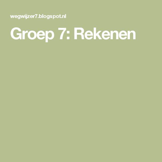 Groep 7: Rekenen