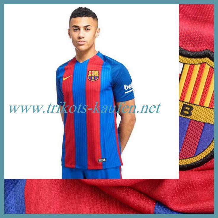 Neue FC Barcelona Trikot Heim Rot/Blau 2016 2017 Gold