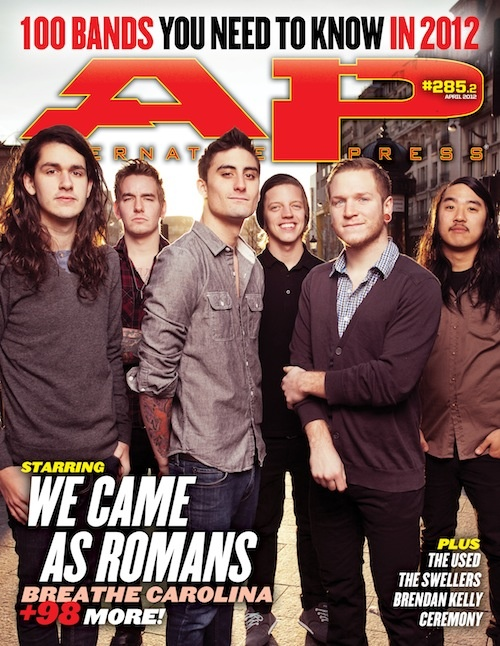 WE CAME AS ROMANS ON COVER OF ALTERNATIVE PRESS MAGAZINE