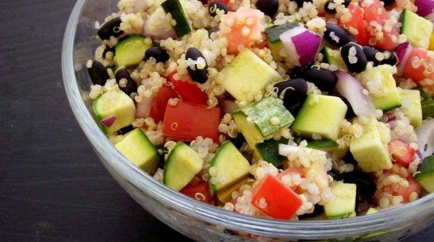 Quinoa, Black Bean & Summer Squash Salad, $1.25 per serving: Eating Well, Poor Girls, Summer Squash Salad, Black Beans, Girls Eating, Salad Recipe, Beans Salad, Quinoa Summer, Beans Summer
