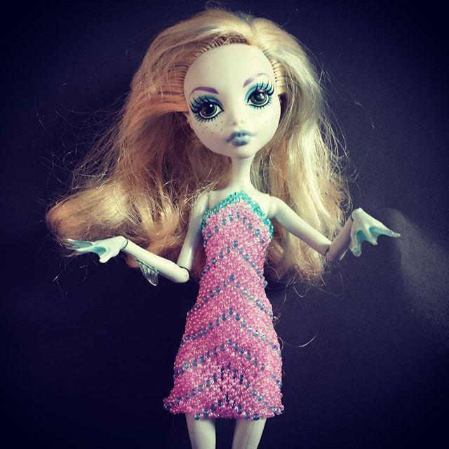 #bead #dress for #lagoonablue #handmade #jewelery #monsterhigh #doll #ooak