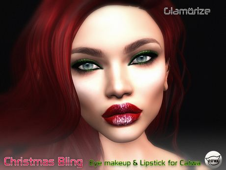 .:Glamorize:. Christmas Bling Makeup for Catwa Heads (Wear Me)
