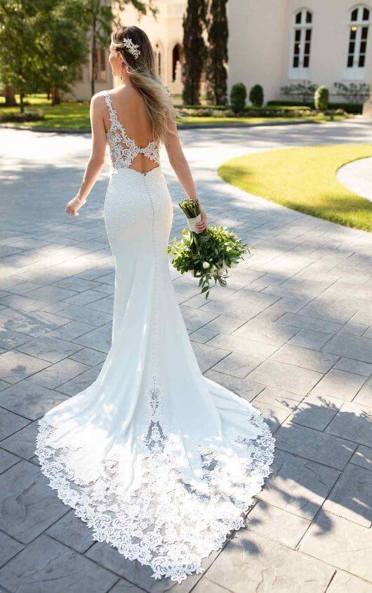 a450e1a9bb2 Sexy Wedding Dress with Sheer Open Back - Stella York Wedding Dresses