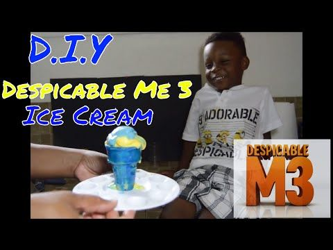 2017 Despicable Me 3 MINIONS McDonalds Menu Happy Meal Ice Cream - YouTube