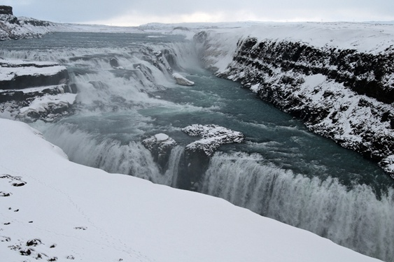 Iceland, Gulfoss, winter.