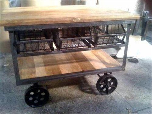 Zobacz zdjęcie Mobilna wyspa kuchenna, wyspa kuchenna jako wózek, wyspa kuchenna na kółkach - zobacz jak zaprojektować, jak urządzić wyspę kuchenną we wnętrzu, zainspiruj się! Zapraszam po inspiracje na bloga Pani Dyrektor. w pełnej rozdzielczości