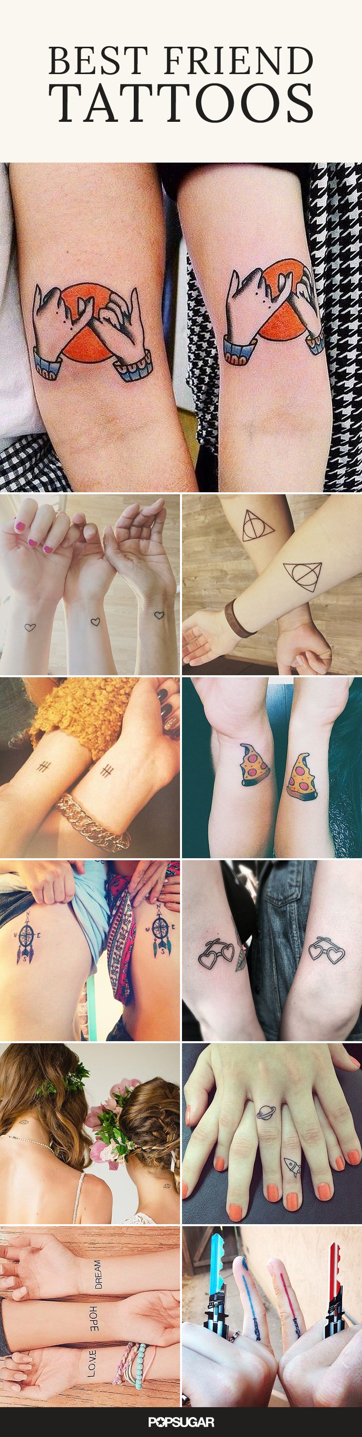 If your best friend is a real BFF, she'll make it permanent and get inked with you. After all, your friendship never happened unless you get a tattoo and Instagram it. We scoured the web to find the best tattoos between friends for you to use as an inspirational guide. #inkskin
