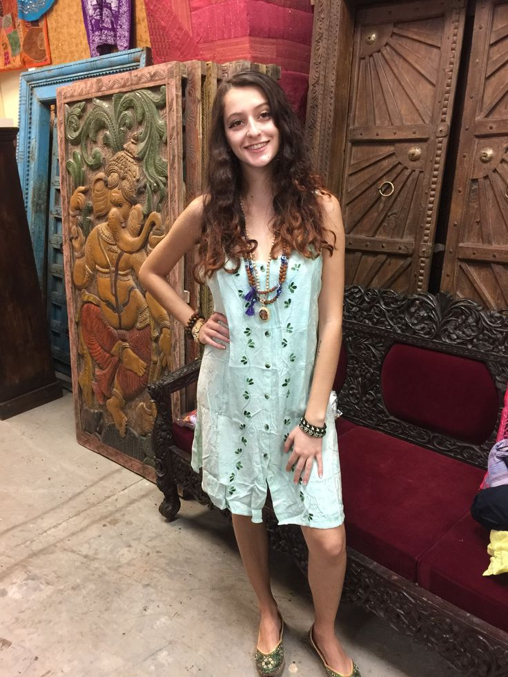 Summer Casual Festive Dress Bue Embroidered Boho Sundress. Rayon fabric gives a dreamy Soft feeling. Adjustable tie at the back.