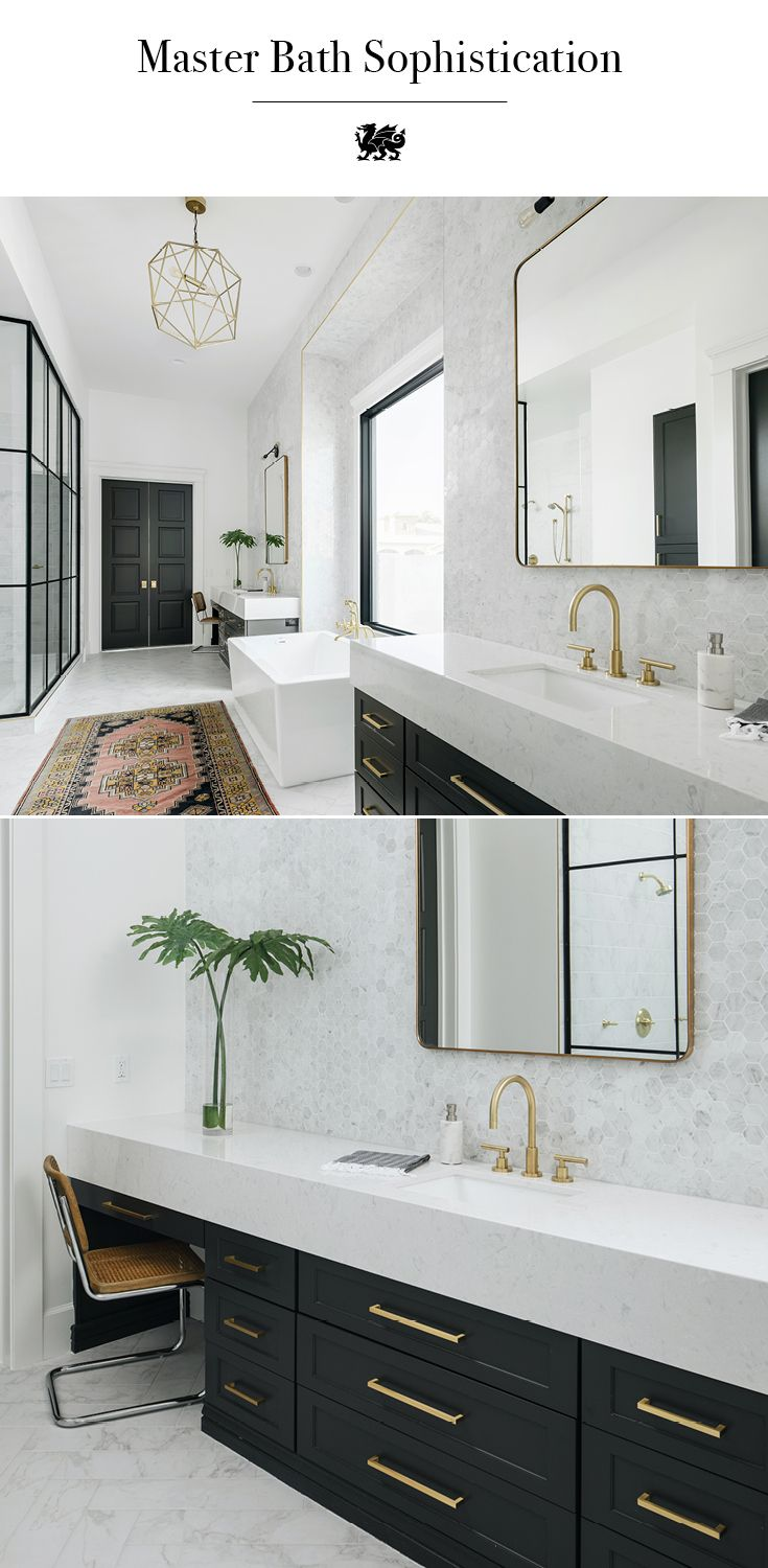 Best 25 black cabinets bathroom ideas on pinterest - Bathroom cabinets and countertops ...