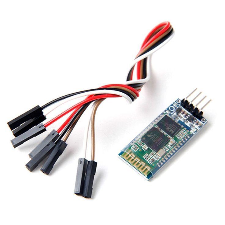 Neuftech® Communication série HC-06 sans fil Bluetooth Serial Transceiver Module esclave pour Arduino+câble(couleur aléatoire): Amazon.fr: High-tech