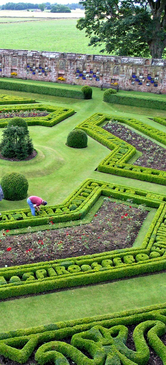 Travelling -  Italian Renaissance stylle Walled Garden at Edzell Castle, Perthshire, Scotland.