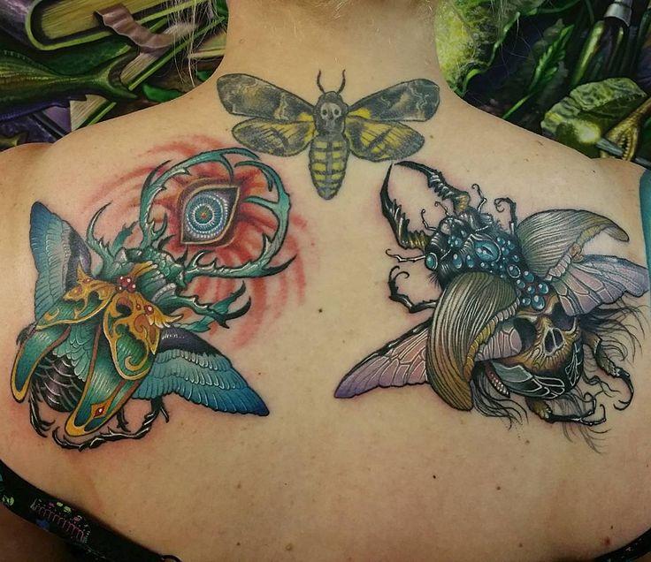 """""""Bug buddies.  Original artwork by Caitlyn Hackett. I didn't do the death moth"""""""