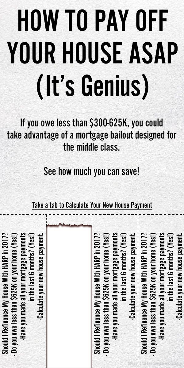 How To Pay Off Your House ASAP (It's Genius) - If you owe less than $625,000, you could take advantage of a mortgage bailout designed for the middle class (PROGRAM EXPIRES NEXT YEAR). See how much you can save! Calculate Your New House Payment Now - Learn how I made it to 100K in one months with e-commerce!