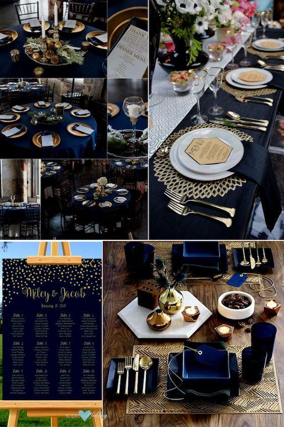 Navy Blue Wedding Color Schemes Stunning Ideas Decor Hottest