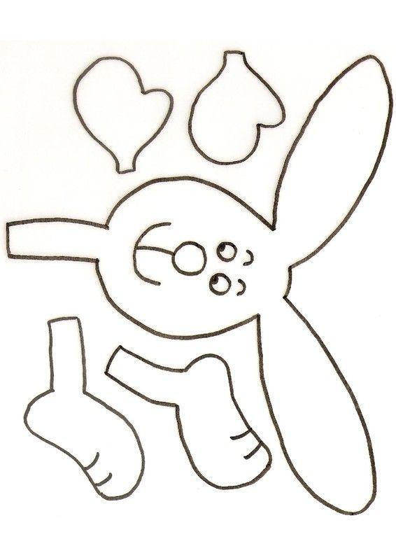 Gabarit 1 - Le lapin de Pâques et ses oeufs