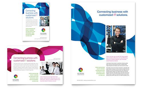 Network Administration Flyer & Ad Template by @StockLayouts