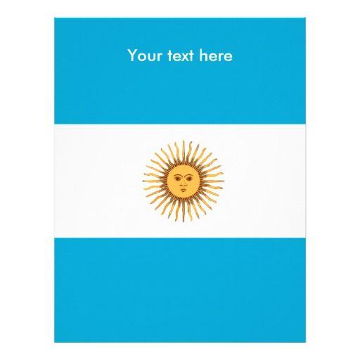 Argentina flag letterhead