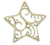 Drevený výrez, hviezda filigrán