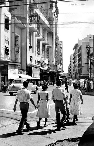 Escolta Street downtown business street of the day, Manila, Philippines 1950s (2)