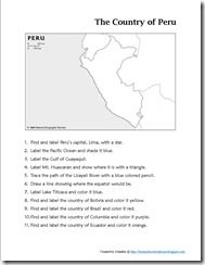 Perusing Peru ~ Lesson Plans and Links for Learning about Peru
