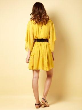 Biba Tunic lurex dress Gold Yellow - House of Fraser