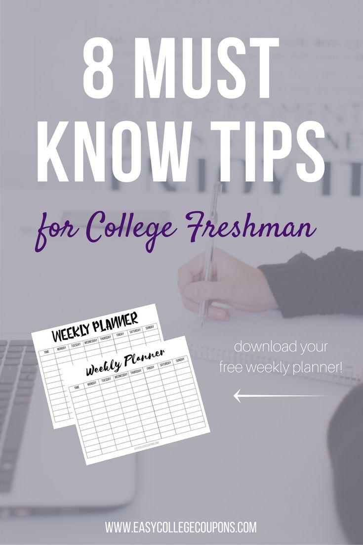 College Freshman Year | Tips | Hacks