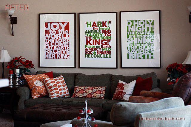 printable Christmas songs subway art