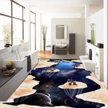Kostenloser Versand Cosmic Star Erde 3d Boden Malerei Selbstklebende  Dekoration Badezimmer Wohnzimmer Bodenbelag Tapete Mural(