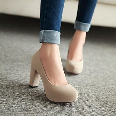 Women's Chunky Heel Round Toe Pumps/Heels Shoes (More Colors) - GBP £ 18.34