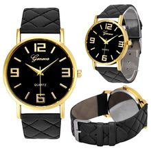 Unisex Watch 9Colors Clock Fashion Geneva PU Leather Quartz Wrist Watches Casual…