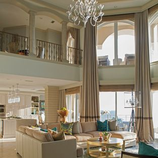 Two Story Window Treatments Design Ideas Pictures Remodel And Decor Tall Window Treatments