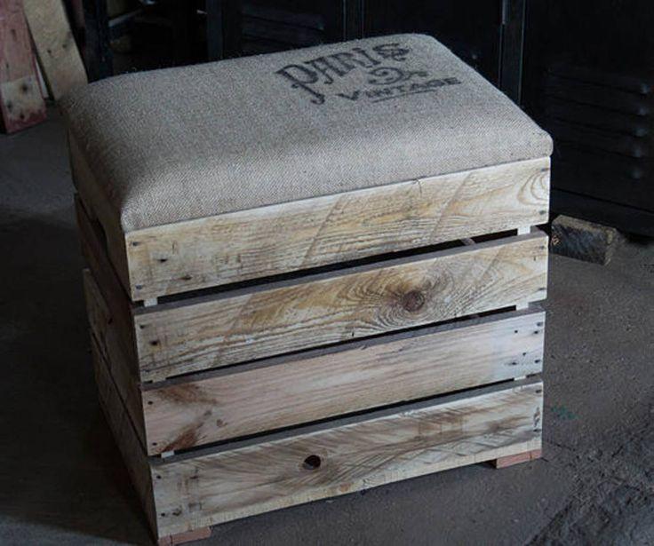 Banquette-coffre : Chaises & poufs par Palettegraphik