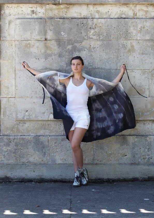 Feutre Art Textile: Portrait d'Evelyne Alice Bridier