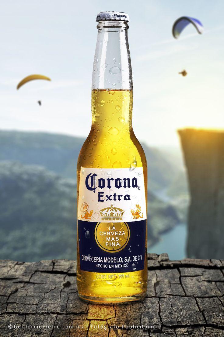 Fotografía publicitaria de la cerveza Corona. Fotografía de bebidas.