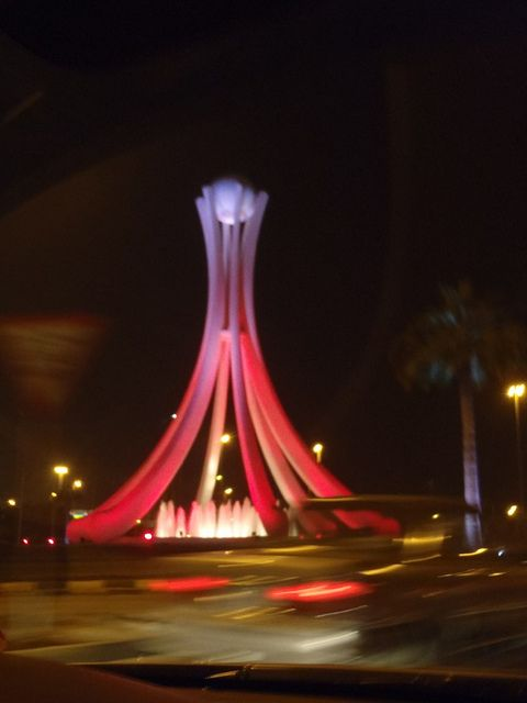 """Bahrain is more of a common travel point for me, it being so close.  It's a bit more Americanized than Saudi and it's a nice place to spend the day.  Unfortunately this """"icon"""" to the country, the pearl roundabout was destroyed during the demonstrations this year."""