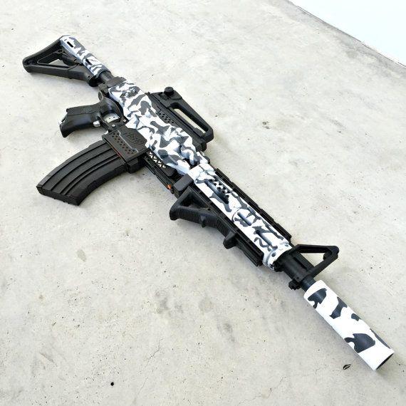 Nerf Stryfe M4 Carbine Arctic Black Camo