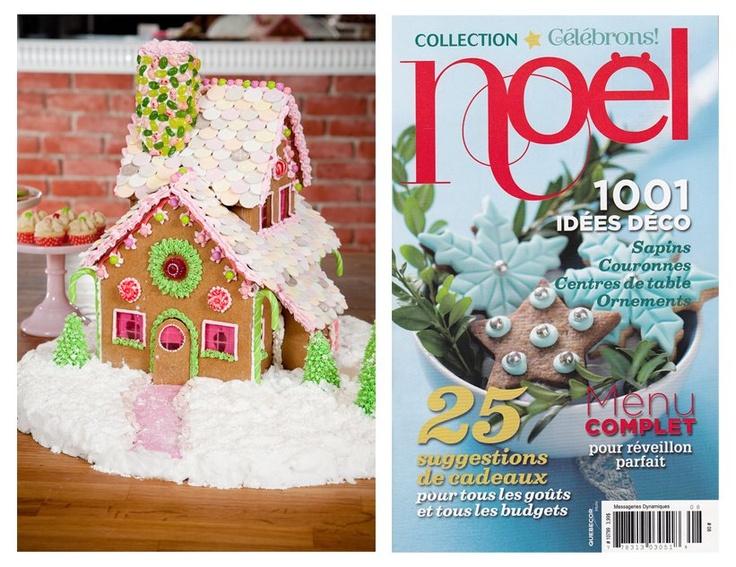 Célébrons Noel 2011.  Sug'Art cookies house   Momento magazine concept.