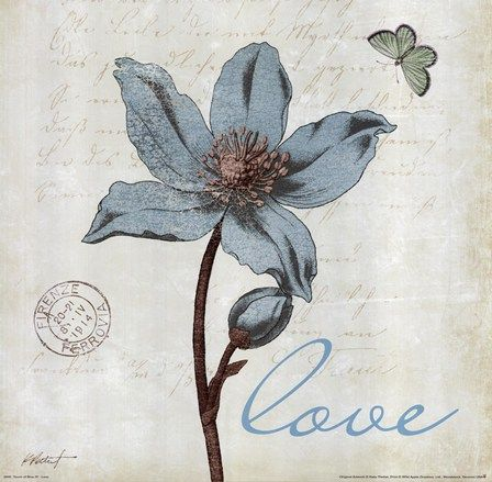 Touch of Blue IV - Love by Katie Pertiet art print