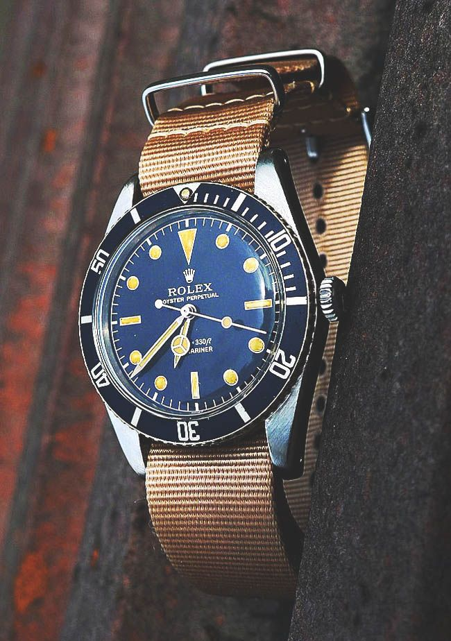 Vintage Canvas Oyster Perpetual Rolex Watch                              …