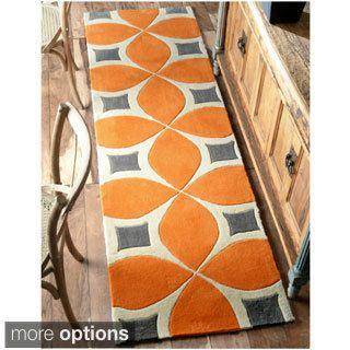 nuLOOM Handmade Modern Disco Runner Rug (2'6 x 8') | Overstock.com Shopping - The Best Deals on Runner Rugs