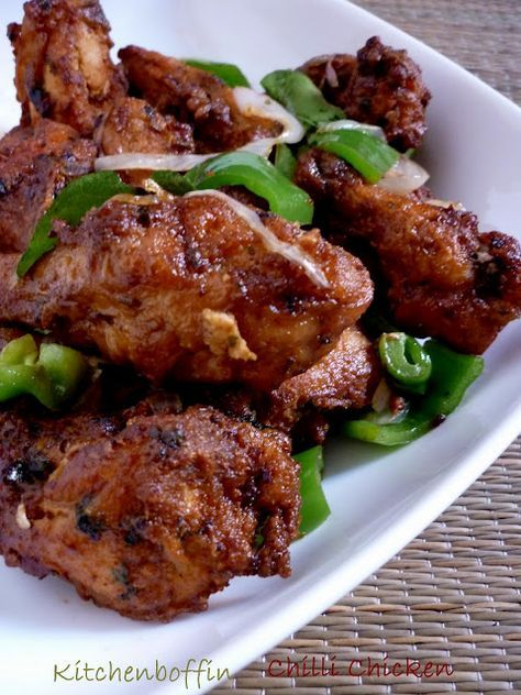 Chilli Chicken fry - from a Malabar recipe blog