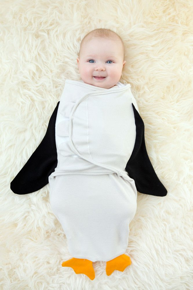This is such a cute and adorable Penguin baby swaddle available at LollipopandLullaby.com. Made with 100% organic cotton. This swaddle will help your newborn feel safe and secure. Choose from 6 different prints for your baby. (If you're looking for the perfect baby shower gift, then this is it!)