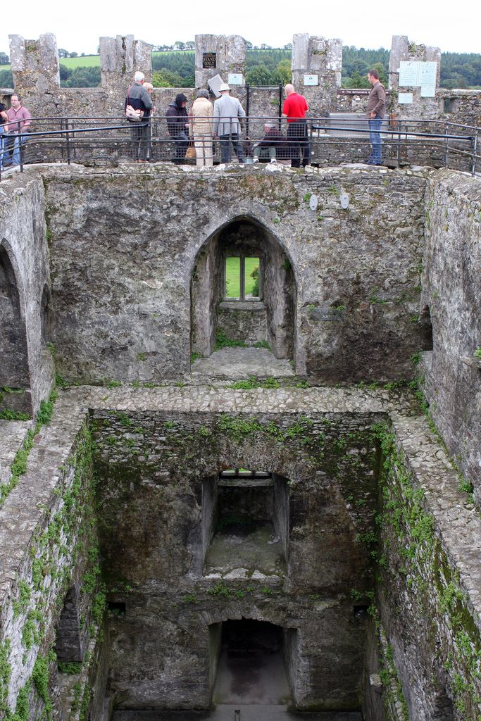 Blarney Stone-Ireland. The Blarney Stone is a famous Irish historical site located in the village of Blarney, just a mere 8 kilometers from the city of Cork. It's a huge block of stone that was a gift of gratitude to the Irish people from Robert the Bruce, for their unwavering support in the 1314 battle of Bannockburn. Robert Bruce was my 18th Great Granfather.