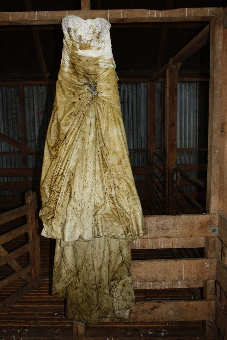 Wedding gown trashed!